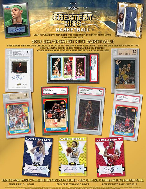 2018 Leaf Greatest Hits Basketball Leaf Trading Cards