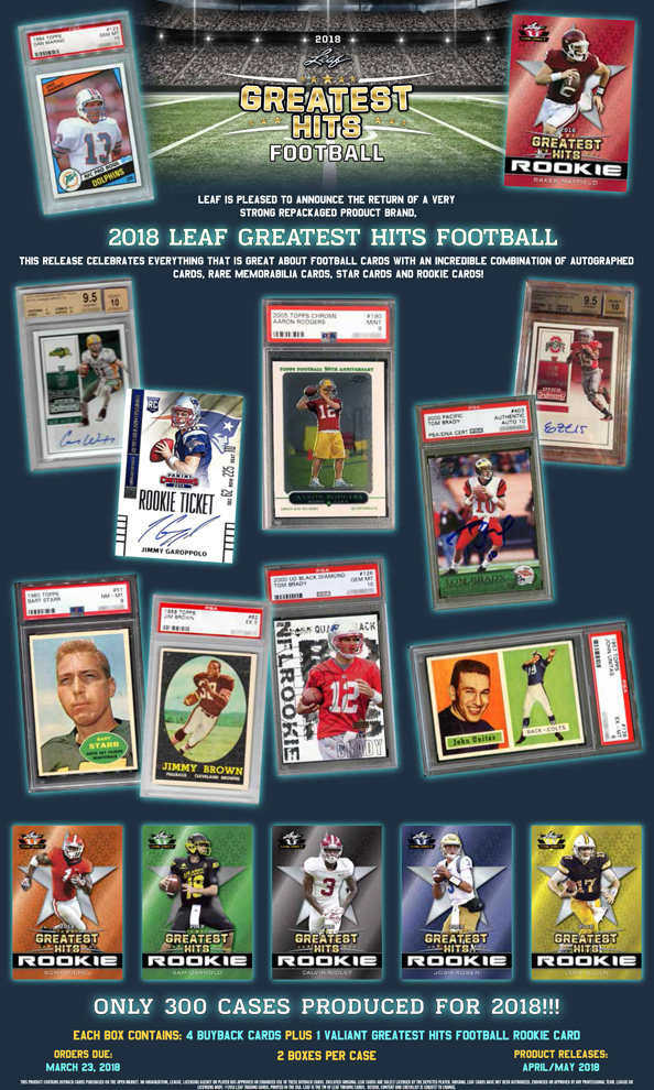 2018 Leaf Greatest Hits Football Leaf Trading Cards